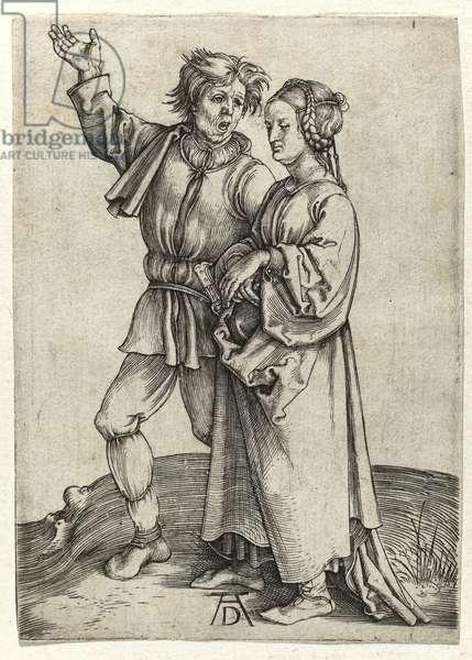 Pair of peasants, c.1497 (Burin engraving)