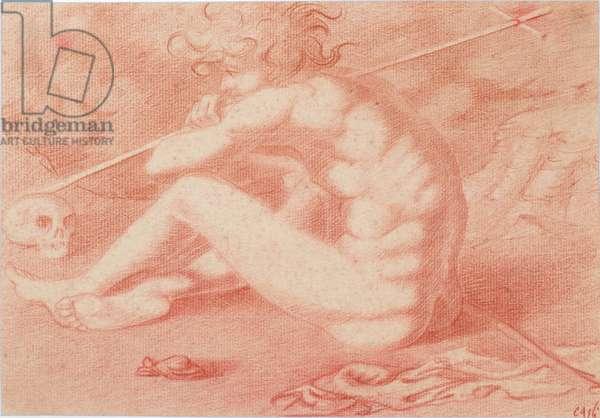 Pilgrim, 1939 (sepia pencil on paper)