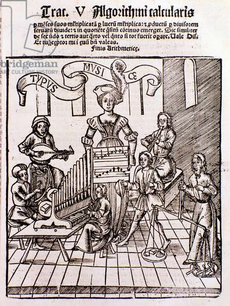 The liberal arts: Music (engraving, 1508)