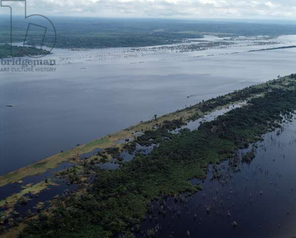 Air view on the Rio Trombetas, State of Para, Brazil - Aerial view of Trombetas river, Para state, Brazil, 1983 - Photography