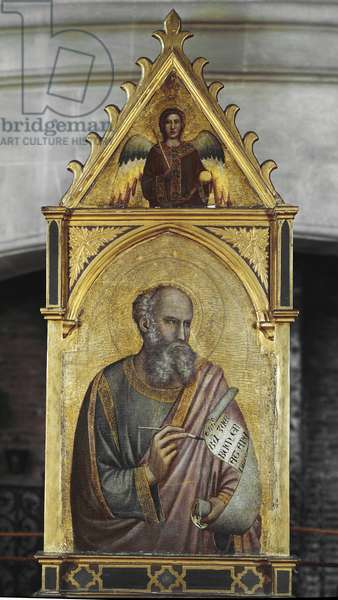 Saint John the Evangelist (San Giovanni Evangelista) - Painting by Giotto (1267? -1337), oil on wood, 81x55 cm, 1320-1325. Chaalis, Musee Jacquemart Andre