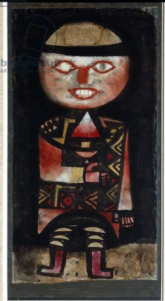 The comedian Painting by Paul Klee (1879-1940) 1923 Sun. 46,5x25 cm Bern, Collection Felix Paul Klee
