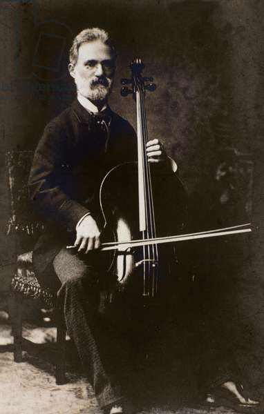 Portrait of Alfredo Piatti (1822-1901) italian composer and cellist