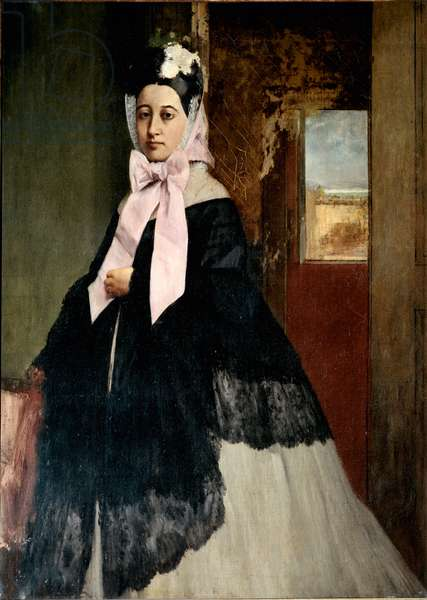 Portrait of  Therese De Gas (Degas), ca 1863 (oil on canvas)