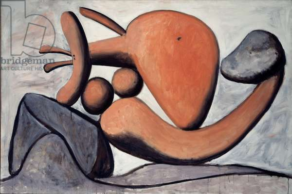 Woman throwing a stone, 1932 (oil on canvas)
