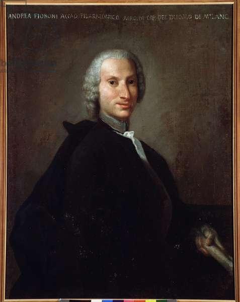 Portrait of Gianandrea Fioroni (1716-1778) italian composer