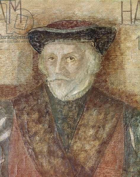 Portrait of english physician William Harvey (painting, 16th century)