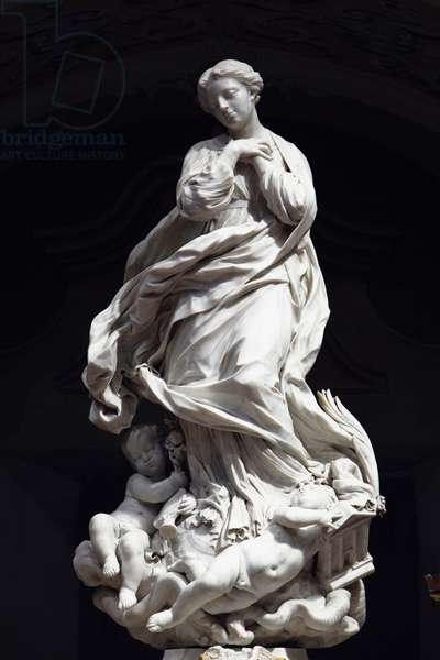 The Immaculate Conception, Santa Maria Immaculate placed on the altar of the scenographic chapel 1669-70 (marble)