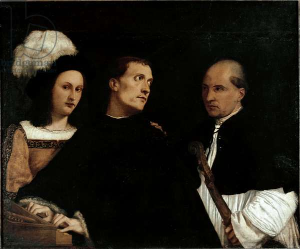 The Concert (or Interrupted Concerto), 1512 (oil on canvas)