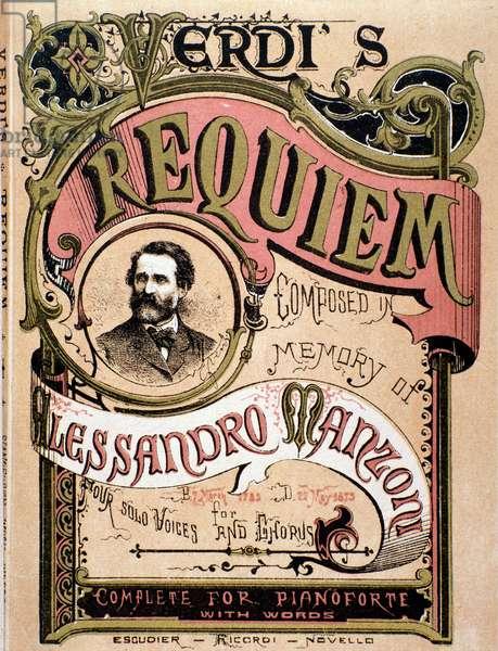 Frontispiece for Verdi's Requiem, 1874 (litho)