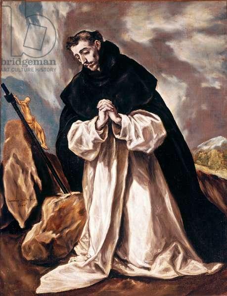 Saint Dominica in prayer Painting by Domenikos Theotokopoulos dit El Greco (1541-1614) 1598-1603 Sun. 120x88 cm Cathedral of Toledo (Toledo)