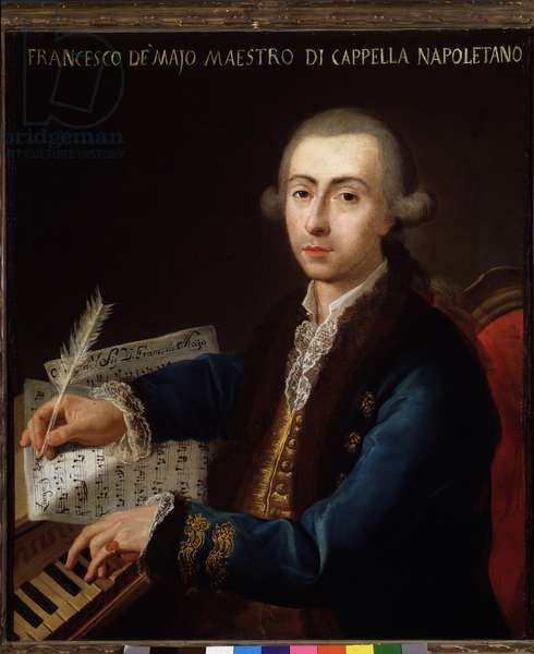 Portrait of Gian Francesco de Majo (1732-1770) Italian composer