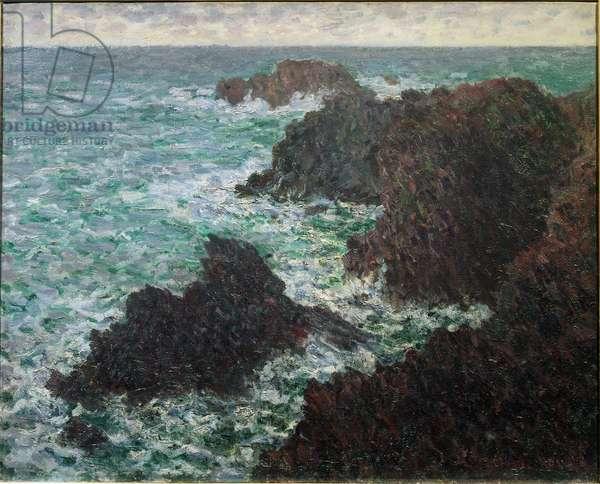 The rocks of Belle-Ile, the wild coast, 1886 (oil on canvas)