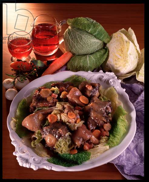 Food: beef tail stew (Food still life: stew Oxtail)
