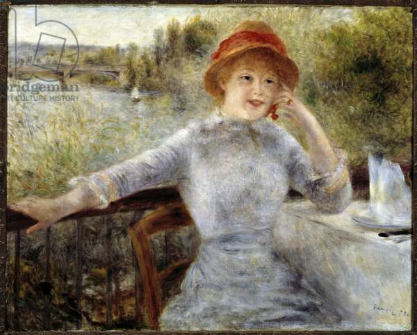 Portrait of Alphonsine Fournaise - oil on canvas, 1879