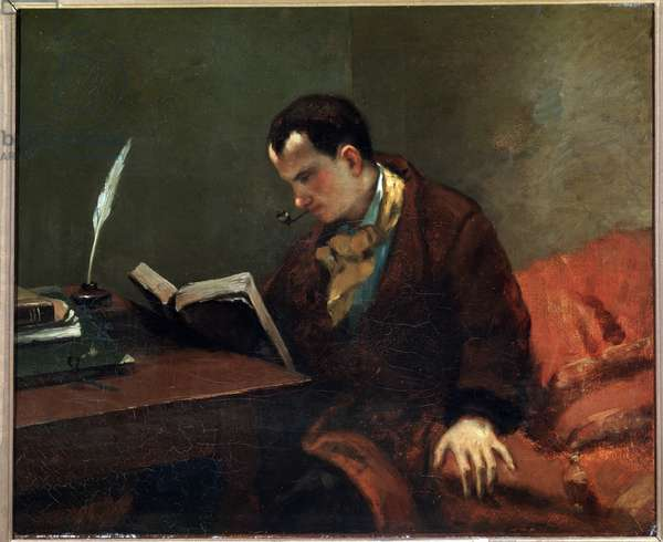 Portrait of the poet Charles Baudelaire - oil on canvas, 1847