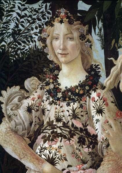 Le printemps (The spring or La primavera) Detail - Painting by Alessandro di Mariano dei Filipepi dit Sandro Botticelli (1445-1510) 1477-1478 Sun: 203x314 cm Florence, Galerie Des Uffizi (Uffizi)