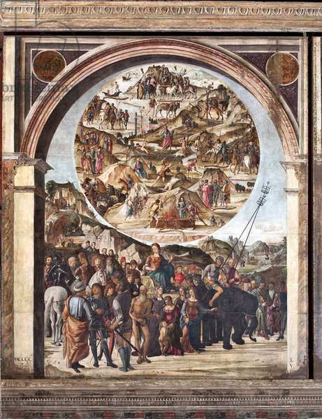 Triumph of Fame, episodes of the Old Testament, scenes of martyrs (Painting, 1490)