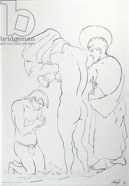 Neophytes, 1974 (ink on paper)