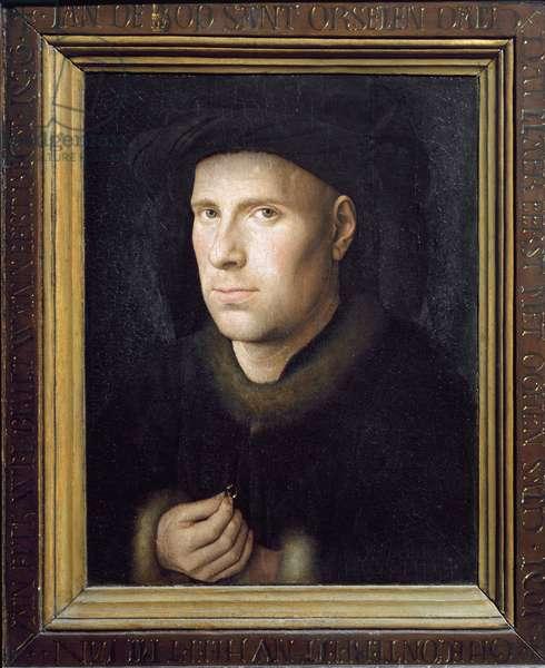 Portrait of Jan De Leeuw (oil on wood, 1436)