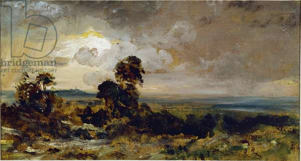 Stormy Sunset in Hampstead (Hamstead stormy sunset) Painting by John Constable (1776-1837) 1822 Sun 16,2x30,5 cm London Victoria and Albert Museum