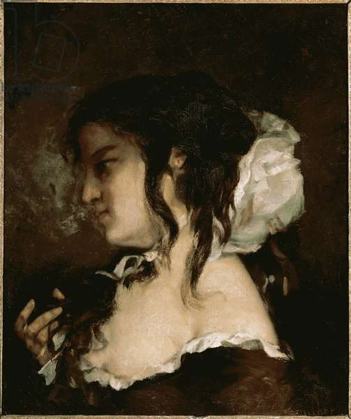 Thoughts (oil on canvas, 1864)