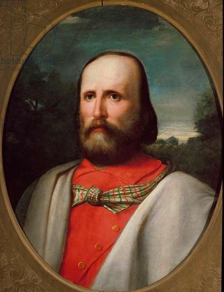 Portrait of Italian patriot Giuseppe Garibaldi, 19th century