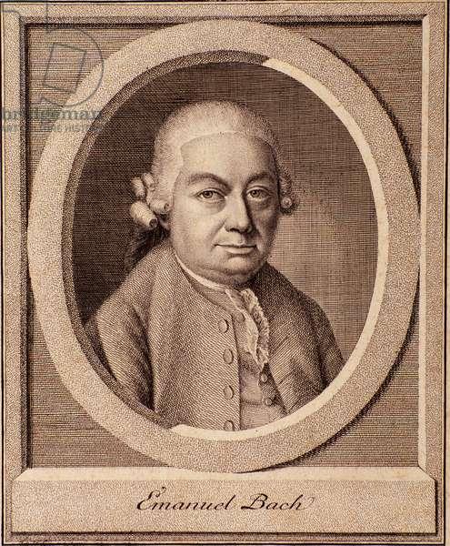 Portrait of german composer Carl Philipp Emanuel Bach (1714-1788) son of Johan Sebastian Bach