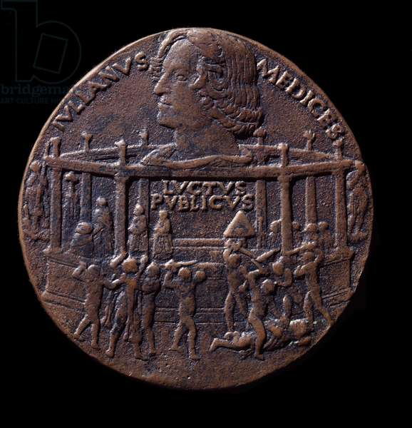 Bronze medal on the Pazzi conspiracy (1478)