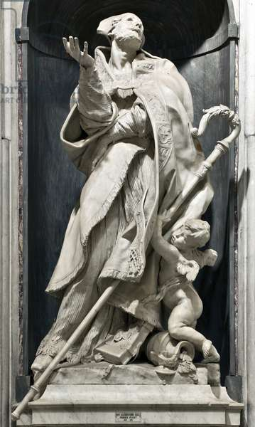 Representation of Saint Alexander Sauli (1534-1592) (Alexander Sauli) Sculpture by Pierre Puget (1620-1694) Genes, Basilica di Santa Maria in Carignano Italy