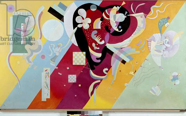 Composition IX Painting by Vassily Kandinsky (or Wassily Kandinski or Kandinskij, 1866-1944) 1936 Sun. 1,13x1,95 m Paris, musee National d'art moderne Centre Pompidou