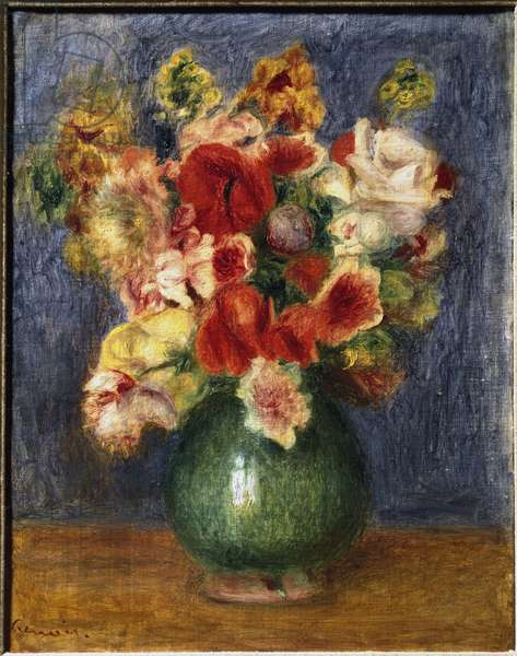Flowers in a Vase (oil on canvas, 1905)