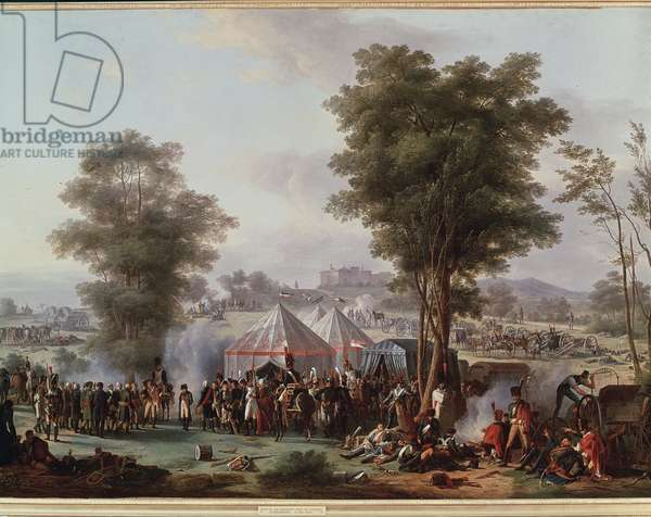 Bivouac of Emperor Napoleon I, near the castle of Ebersberg in Austria 4/05/1809 (Painting, 1810)