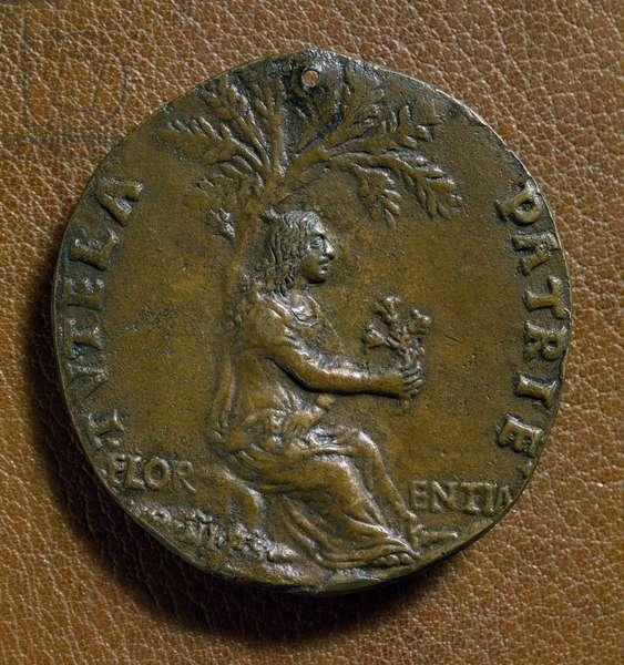 Effigy of Lorenzo de Medici, 15th century (bronze medal)