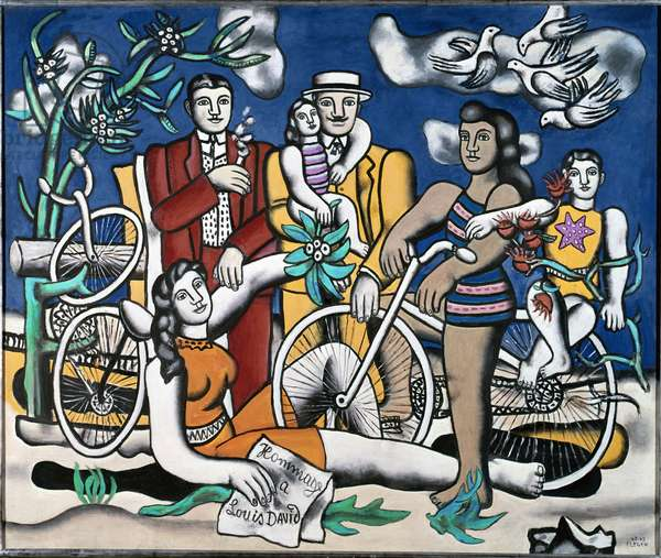 Leisure, tribute to Louis David, 1948-1949 (oil on canvas)