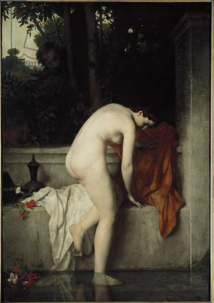 The Chaste Suzanne, also known as Suzanne in the Bath - Painting by Jean Jacques Henner (1829-1905), oil on canvas, 185x130 cm, 1865. Paris, Musee d'Orsay