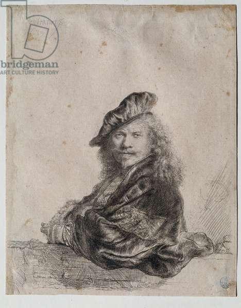 Self-Portrait (Self-Portrait) Painting by Rembrandt Harmenszoon van Rijn (1606-1669) 1639 Dim 207x164 cm Gabinetto Disegni e Stampe, Uffizi (Offices) Florence
