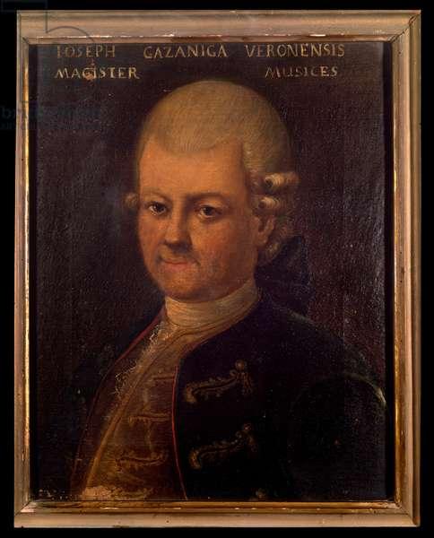 Portrait of Giuseppe Gazzaniga (1743-1818) italian composer Anonymous painting. 18th century. Bologna, civico museo bibliografico musicale.