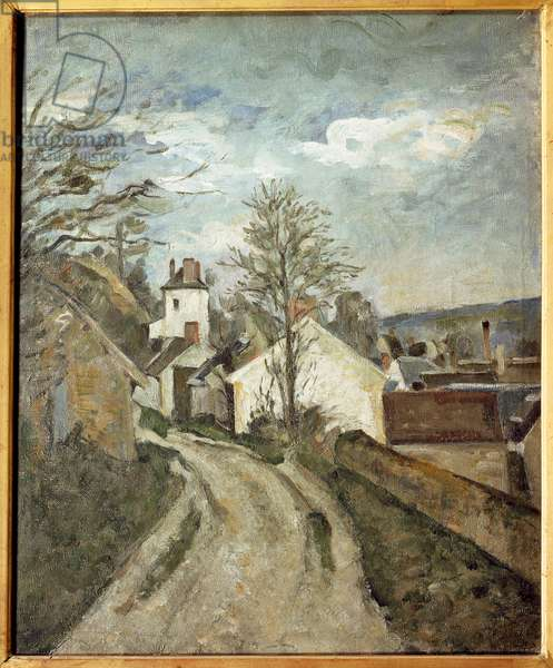 The house of Doctor Gachet has Auvers Painting by Paul Cezanne (1839-1906), 1873. Oil on canvas. Orsay Museum