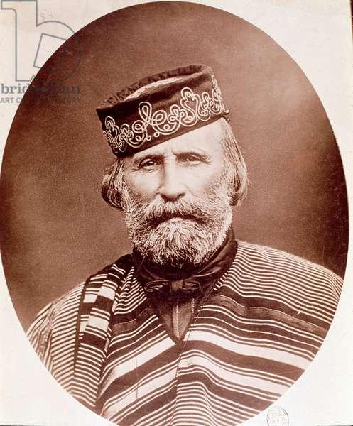 Portrait of Giuseppe Garibaldi (1807-1882) Photography. 19th century. Milan, private collection