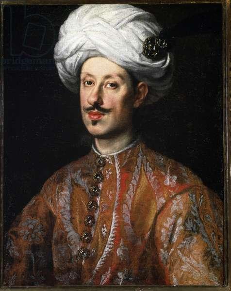 Portrait of Ferdinando II de Medici (Ferdinand II de Medicis) (1610-1670) in oriental costume Painting by Justus Sustermans (1597-1681) 17th century Florence, Pitti Palace