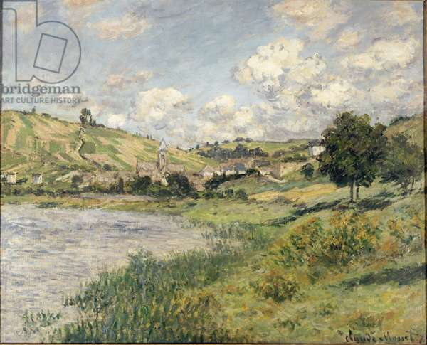 Landscape. Vetheuil - Painting by Claude Monet (1840-1926), 1879 - French Impressionism - Oil on canvas - Musee d'Orsay