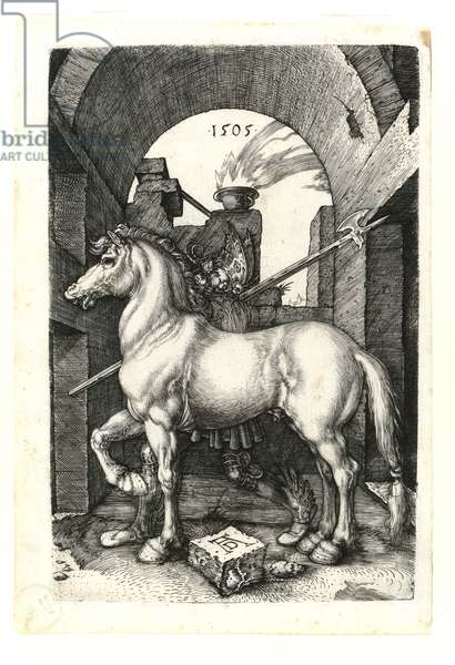 The little horse, 1505 (Burin engraving)