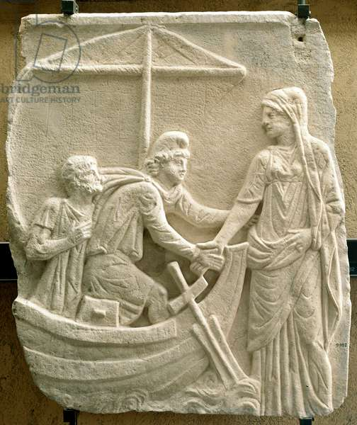"""Greek antiquite: """""""" the abduction of Helene of Troy"""""""" Bas relief - Vatican, Musei Lateranensi - The Abduction of Helen of Troy - Stone relief - Musei Lateranensi, Musei Vaticani, Italy"""