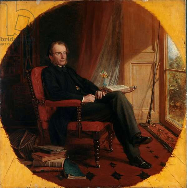 Portrait of the English Writer Charles Kingsley, 1862 (Painting)