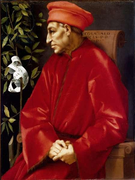 Portrait of Cosimo (Cosimo de Medici), dit Cosimo the Old Medici (1389-1464) Painting by Jacopo (Iacopo) Carrucci dit il Pontormo (Pontormo) (1494-1556) 1518-1519 Sun. 86x65 cm Florence, Galleria degli Uffizi (Offices) ©Luisa Ricciarini/Leemage