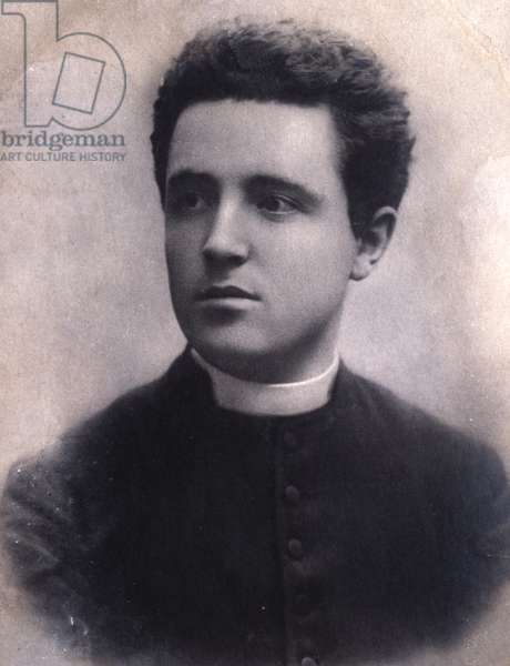Portrait of Lorenzo Perosi (1872-1956) italian composer and organist.