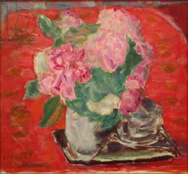 Roses Painting by Pierre Bonnard (1867-1947) 1943 Paris, Private Collection