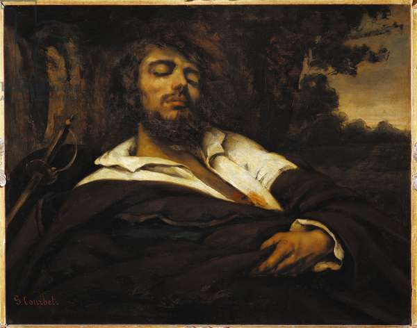 The painter's self-portrait wounds. Painting by Gustave Courbet (1819-1877) 1866 Sun. 79x99.5 cm Vienna, Kunsthistorisches Museum, Neue Galerie