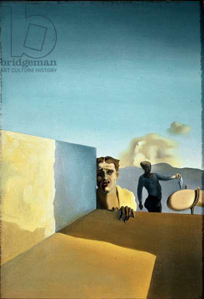 The hairdresser saddens by the persistence of fine weather Painting by Salvador Dali (1904-1989) 1934 Sun. 24x12 cm Private collection